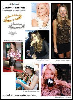 Celebs can't get enough of the Renegade Cluster Bracelet by Stella & Dot www.stelladot.com/sites/karidavis