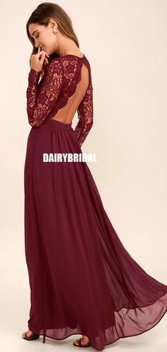 Open your eyes to a world of beautiful possibilities in the Awaken My Love Burgundy Long Sleeve Lace Maxi Dress! Crocheted lace elegantly graces the fitted bodice of this stunning dress, with V-neckline and sheer long sleeves. Trendy Dresses, Sexy Dresses, Long Bridesmaid Dresses, Wedding Dresses, Lace Wedding, Christmas Bridesmaid Dresses, Elegant Wedding, Bridesmaids, Burgundy Maxi Dress