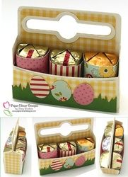 Paper Piecing Patterns & Digi Stamps for Scrapbook, Card & Tag Embellishments Easter Projects, 3d Projects, Easter Crafts, Crafts For Kids, Easter Ideas, Treat Holder, Treat Box, Candy Boxes, Favor Boxes