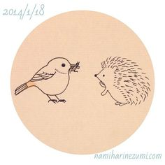ハリネズミって昆虫が主食なんだよね…。#ハリネズミ 31 (1ヶ月続きました!) A hedgehog eats an insect mainly. #hedgehog #drawing