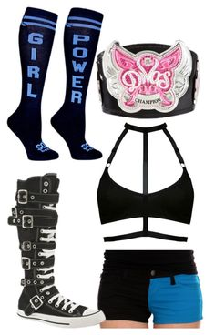 """""""Wwe divas gear"""" by yourteenagetippers143 ❤ liked on Polyvore featuring moda, Tripp e Converse"""