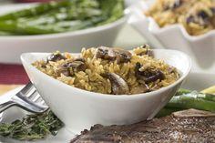 Orzo Mushroom Toss | MrFood.com