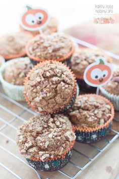 Pumpkin Bran Muffins - Happy Food, Healthy Life