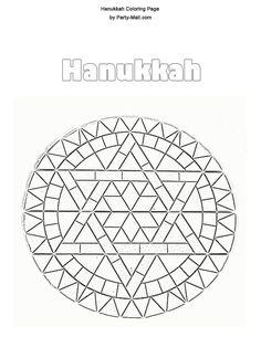 hanukkah coloring pages | Free Hanukkah Coloring page
