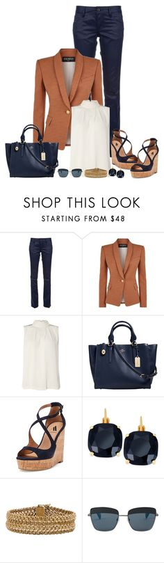 """""""Untitled #898"""" by gallant81 ❤ liked on Polyvore featuring Dsquared2, Balmain, Y.A.S, Coach, Ava & Aiden, Kate Spade and Yohji Yamamoto"""