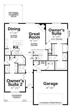 Find your dream craftsman style house plan such as Plan which is a 2116 sq ft, 4 bed, 3 bath home with 2 garage stalls from Monster House Plans. Craftsman Style House Plans, Ranch House Plans, Best House Plans, Dream House Plans, House Floor Plans, Duplex Floor Plans, Home Design Floor Plans, Plan Design, The Plan