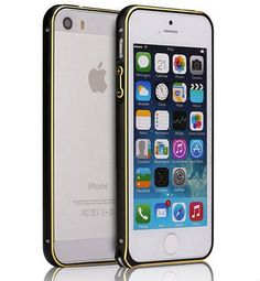 For iPhone 5 5S SE Ultra Thin Slim Aluminium Metal Hippocampal buckle Bumper Frame Cover Case Curved Design