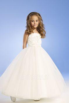 Abito da ragazza di fiore 14 Anno vecchio Principessa Perline