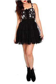 Dresses | Clothing http://www.hottopic.com/hottopic/Apparel/Dresses//Skull+Tulle+Dress-704971.jsp#