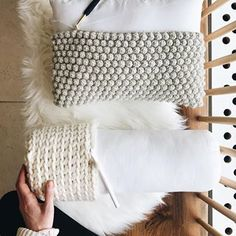 I've been working on a HUGE project all year that I've had to keep secret, but I finally get to share with you on Thursday! Crochet Home, Knit Crochet, Crochet Stitches, Crochet Patterns, Nyc Instagram, Bobble Stitch, Crochet Cushions, Homemade Crafts, Tool Design