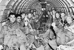 British troops of the 1st Airborne Division aboard C-47 transport aircraft for Operation Market Garden, 17 Sep 1944