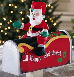 Excellent Design For Mailbox Christmas Decoration Ideas: Stunning Santa  Claus Christmas Mailbox Decoration Ideas For Amazing Design