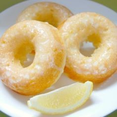 Baked Lemon Donuts. These are moist and delicious, with or with out the glaze.