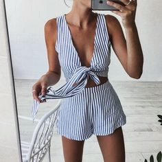 Playsuits are so versatile for travel. | What to wear on Vacation: 50 Great Outfit Ideas