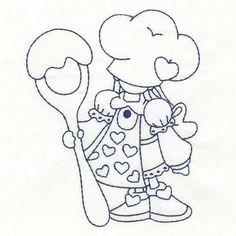 OregonPatchWorks.com - Sets - Sweet Little Cooking Girls