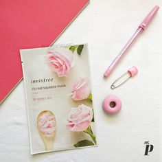 Innisfree its real squeeze sheet Face Mask Rose Review India2