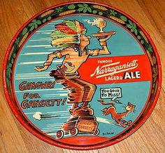Narragansett Lager antique beer tray