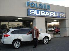 Mr. Harris and his new 2012 Subaru Outback wagon!