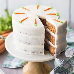 Best Ever Carrot Cake with Cream Cheese Frosting: moist & light! -Baking a Moment