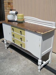 Country French Fruitwood Server Sideboard Buffet