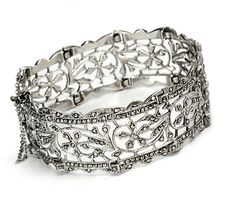 Sterling Marcasite Bracelet - I think Art Deco has to be one of my more favourite eras for jewellery