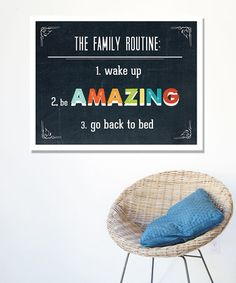 Take a look at this 'Family Routine' Print by Children Inspire Design on #zulily today!30