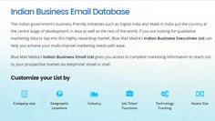 Blue Mail Media's Indian Business Email List can help you achieve your multi-channel marketing needs with ease. You can send an enquiry at sales@bluemailmedia.com and Contact us now at 1-888-494-0588.You can also visit the site: https://www.bluemailmedia.com/indian-business-executives-lists.php