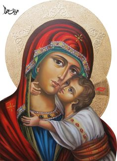 Mary by on DeviantArt Religious Images, Religious Art, Jesus Mary And Joseph, Blessed Mother Mary, Byzantine Icons, Madonna And Child, Jesus On The Cross, Guardian Angels, Adam And Eve