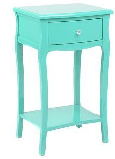 Turquoise Lacquered 1 Drawer Accent Table I Want To Paint My Nightstand Looks