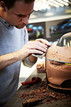 Designers at Work: Clay Modeling #clay #claymodel #automotivedesign