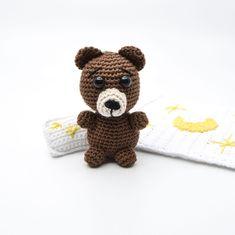 Crocheted animals and amigurumi Archive - KreaLoui Crochet Animals, Crochet Projects, Free Crochet, Panda, Crochet Patterns, Teddy Bear, Stitch, Knitting, Toys