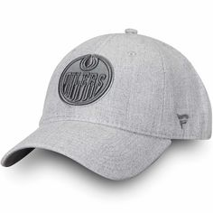 866a8b564 Men s Edmonton Oilers Fanatics Branded Gray Team Haze - Adjustable Snapback  Hat