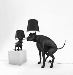 Pooping Dog Lamps. Too funny! Lamp Design, Design Design, Design Humor, Roof Design, Best Puppies, Best Dogs, Home And Deco, Modern Floor Lamps, Bond Street