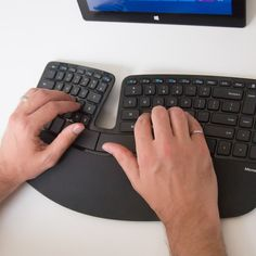 Microsoft 'Manta Ray' #Keyboard Puts Carpal Tunnel on Notice - check out the #ergonomic keyboard bundle for your #office/#desk space