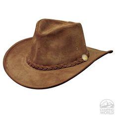46131745847 Crushable Weekend Walker Hat- Brown Western Hats