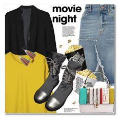 Bring the Popcorn: Movie Night by svijetlana on Polyvore featuring moda, River Island, movieNight and zaful