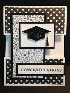 black and white handmade graduation card