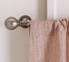 (5) Mini Stripe Cafe Curtain For The Side Porch | Pottery Barn