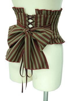 Steampunk Striped Corset w/Bow Steampunk Couture, Viktorianischer Steampunk, Steampunk Cosplay, Steampunk Wedding, Steampunk Clothing, Steampunk Fashion, Steam Punk Diy, Steampunk Vetements, Mode Baroque