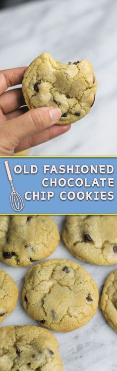 Old Fashioned Chocolate Chip Cookies - no fancy ingredient list, just few simple steps, the BEST softest thick CHEWY cookies in town!