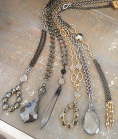 One of a kind necklaces sold to Accessorize Me.  To purchase wholesale or retail email lisajilljewelry@gmail.com