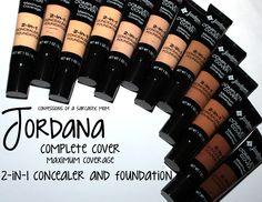 Jordana Complete Cover Maximum Coverage 2-in-1 Conceealer and Foundation! | CoaSMom