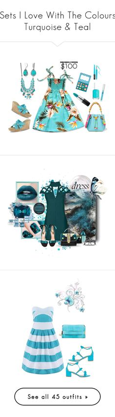 """Sets I Love With The Colours Turquoise & Teal"" by kimberlydalessandro ❤ liked on Polyvore featuring Essie, New Directions, Bling Jewelry, Sophia Webster, Easy Street, MAKE UP FOR EVER, MAC Cosmetics, Osmotics Cosmeceuticals, Rare London and Calvin Klein"
