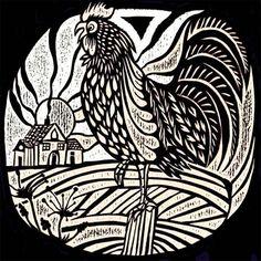 Cockerel Morning Gelli Printing, Stamp Printing, Linocut Prints, Art Prints, Block Prints, Pottery Patterns, Chinese New Year Crafts, Turtle Pattern, Chicken Art