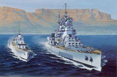 Battleship HMS Howe beside an unidentified destroyer Hms Prince Of Wales, Hms Ark Royal, Naval History, Ww2 Tanks, Nautical Art, Armada, United States Navy, Navy Ships, Submarines