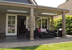 Pergola With Retractable Roof Patio Design, Exterior Design, Garden Design, Outdoor Rooms, Outdoor Gardens, Outdoor Living, Back Patio, Backyard Patio, Porch Veranda