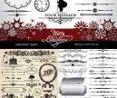 Vintage Christmas design elements vector   Vector Graphics Blog