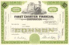 Huge 1984 S&L scandal which was the largest bail out at that time. This collectible stock certificate from First Charter Financial Corporation circa is a great piece of history, Rockwell International, Recording Booth, Stocks And Bonds, World News Today, Common Stock, Smart Set, Forced Labor, Commonwealth