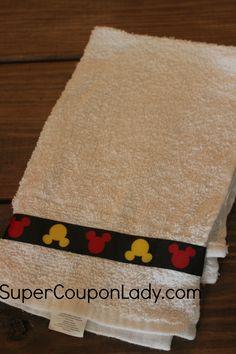 DIY Mickey Hand Towel http://www.supercouponlady.com/2014/05/diy-mickey-hand-towel.html/