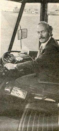 Team LOTUS Race Transporter, Colin Chapman himself behind the wheel!